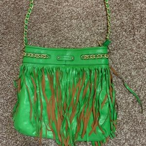 Melie Bianco green leather purse